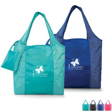Tiffany Foldable Fashion Tote w/ Matching Pouch - Closeout, On Sale!