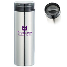 Hot & Cold Skinny Stainless Tumbler with Straw, 15 oz