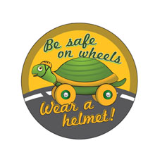 Be Safe on Wheels Sticker Roll, Stock