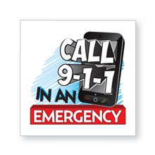 Call 911 in an Emergency Temporary Tattoo, Stock