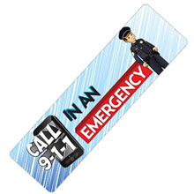 Call 911 Bookmark, Stock