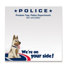 Police, We're On Your Side, 50 Sheet Sticky Pad