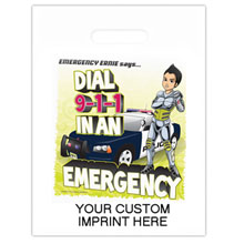 Dial 911 with Emergency Ernie Full Color Litterbag