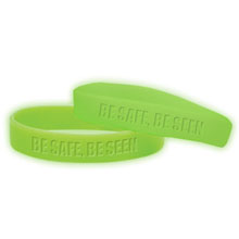 Silcone Awareness Wristband Bracelet, Glow Colors