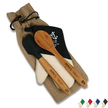 Bamboo Kitchen Gift Set w/ Oven Mitt