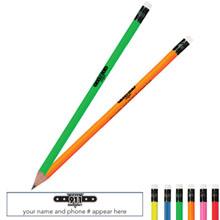 Call 911 Neon Pencil
