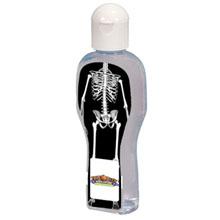 Dressed Up Full Color Sanitizer Bottle - Skeleton, 2.2oz.