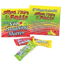 "Laffy Taffy® Snack Kit, featuring ""Slips, Trips, & Falls Are No Laughing Matter"", Stock"