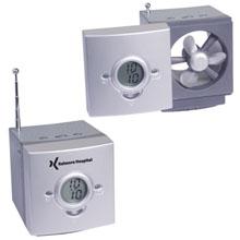 USB Powered Desktop Fan/Clock Radio