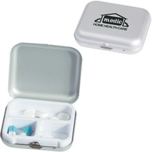 Aluminum Pill Case, 3 Compartment
