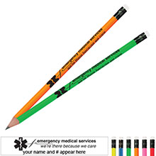 Emergency Medical Services Neon Pencil