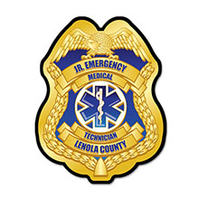 Junior EMT Plastic Badge with Full  Color