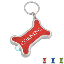 Dog Bone Shaped LED Key Ring Light