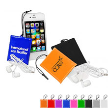 ICleaner Pouch w/ Ear Buds