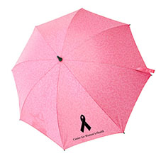 "Pink Ribbon Umbrella, 43"" Arc"