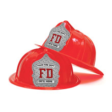 Custom Kid's Junior Firefighter Hat, Diamond Plate Design