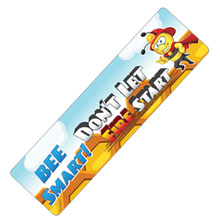Bee Smart Don't Let Fire Start Bookmark, Stock