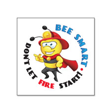 Bee Smart Don't Let Fire Start Temporary Tattoo, Stock