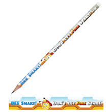 Bee Smart Don't Let Fire Start Full Color Pencil, Stock