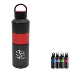 Aluminum Water Bottle, 25oz., BPA Free - Free Set Up Charges!
