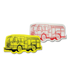 Fire Truck Shape Erasers, Stock