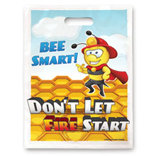 Bee Smart Don't Let Fire Start Full Color Litterbag, Stock