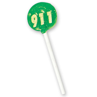 911 Theme Lollipop, Stock- Closeout!