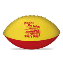 "Practice Fire Safety Every Day Foam Football 4"", Stock"