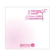 "Fighting Today for a Cure Tomorrow - 3"" x 3"", 25 Sheet Sticky Pad"