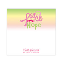 "Peace, Love, Hope - 3"" x 3"", 25 Sheet Sticky Pad"