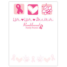 "Live, Love, Beelieve - 4"" x 6"", 25 Sheet Sticky Pad"