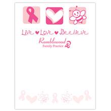 "Live, Love, Beelieve - 4"" x 6"", 25 Sheet Sticky Pad"