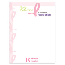 "Early Detection is the Best Protection - 4"" x 6"", 25 Sheet Sticky Pad"