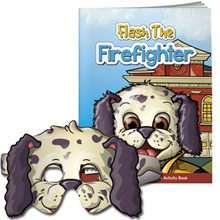Flash the Firefighter Coloring & Activity Book w/ Dalmation Mask