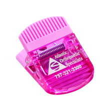 Jumbo Magnetic Memo and Chip Power Clip, Translucent Pink