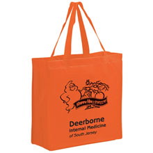 "Halloween Non-Woven Tote Bag w/ Ghost Graphic, 13"" x 13"""