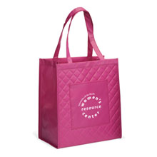 Chelsea Quilted Non-Woven Pink Laminated Shopper