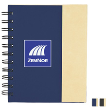 Lock It Mini Spiral Notebook w/ Sticky Pads & Pen