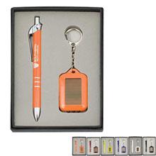 Ballpoint Pen & Solar Keychain Gift Set