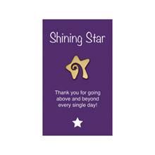 """Shining Star Lapel Pin on """"Shining Star"""" Appreciation Card, Stock"""