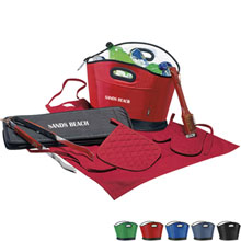 BBQ Gift Set with BBQ Tools, Apron, Cooler & Pot Holder