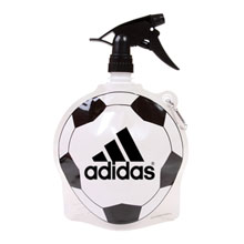 HydroPouch™ Collapsible Spray Top Water Bottle, 24oz., BPA Free - Soccer