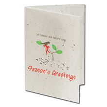 Let Heaven & Nature Sing Seeded Paper Holiday Card