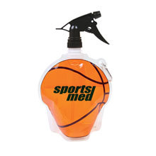 HydroPouch™ Collapsible Spray Top Water Bottle, 24oz., BPA Free - Basketball