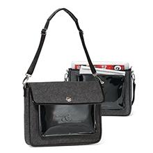 Alexa Computer Messenger Bag - Charcoal