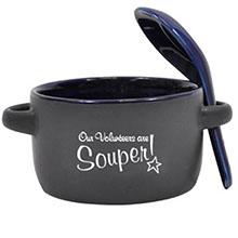 "Appreciation Soup Mug, ""Our Volunteers are Souper!"", Stock"