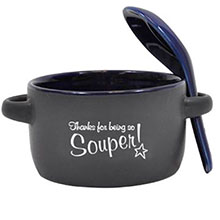 """Appreciation Soup Mug, """"Thanks For Being So Souper!"""", Stock"""