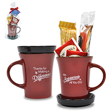"Appreciation Tea Mug Gift Set, ""Thanks For Making A Difference"" Design, Stock"