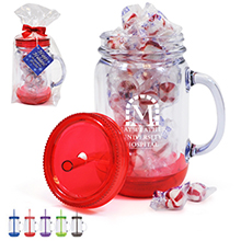 Acrylic Mason Jar Gift Set w/ Peppermint Puffs, 20oz.