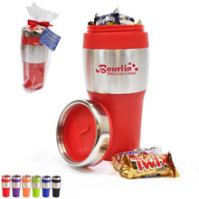 Avondale Silver Streak Tumbler Gift Set w/ Mixed Chocolates, 16oz.